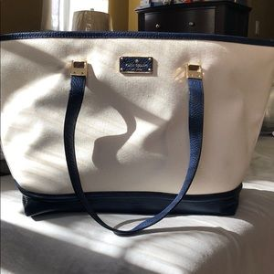 New with tags Kate Spade canvas/leather tote bag
